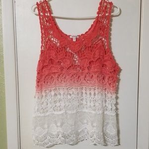 Pretty lace and knit top